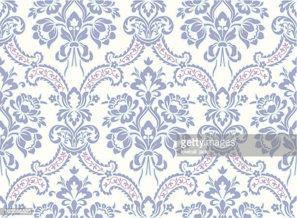 light blue baroque pattern - brocade stock illustrations