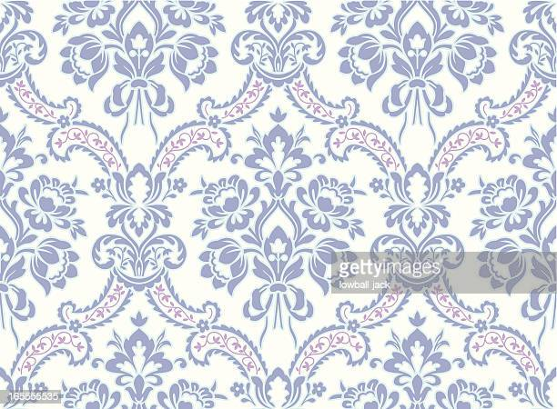 Motif Baroque bleu clair