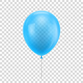 Light blue realistic balloon.