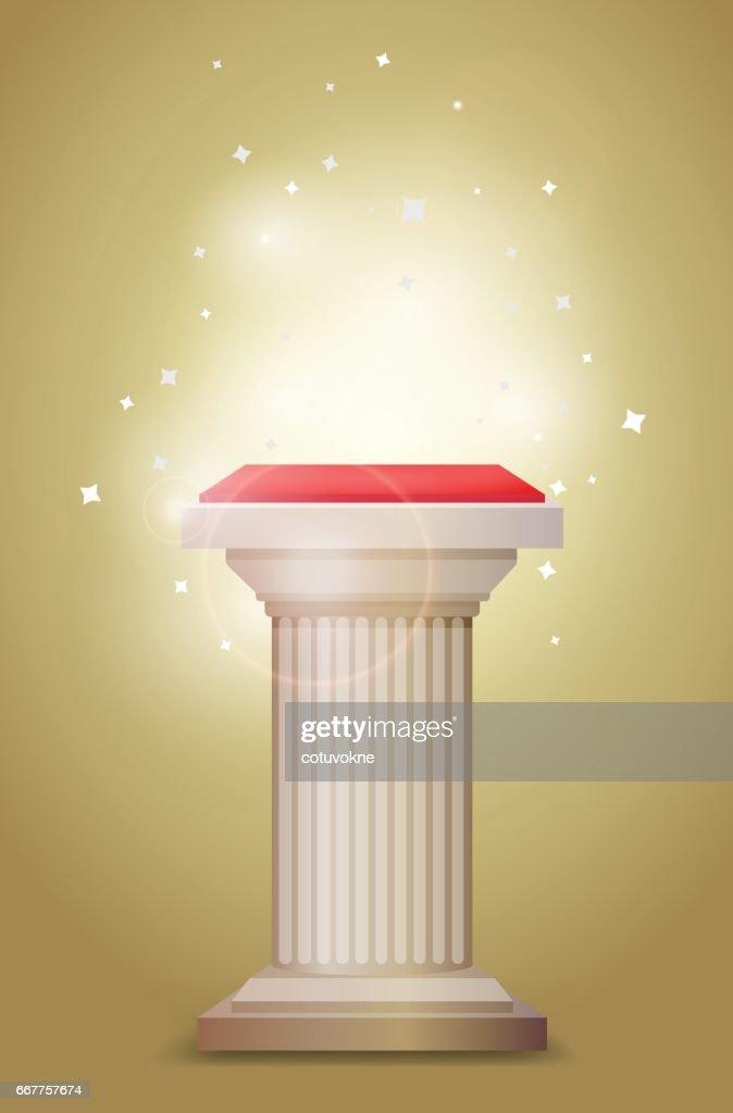 Light bronze column pedestal