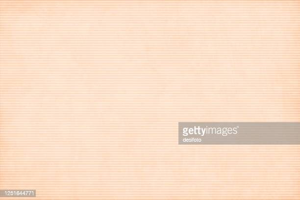 light brown or beige coloured empty background like textured corrugated paper sheet having horizontal narrow stripes - ribbed stock illustrations