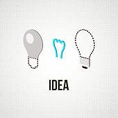 light bub the idea concept