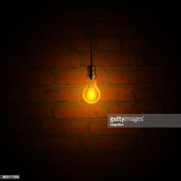 illustrations, cliparts, dessins animés et icônes de ampoule et mur de brique - mur de briques