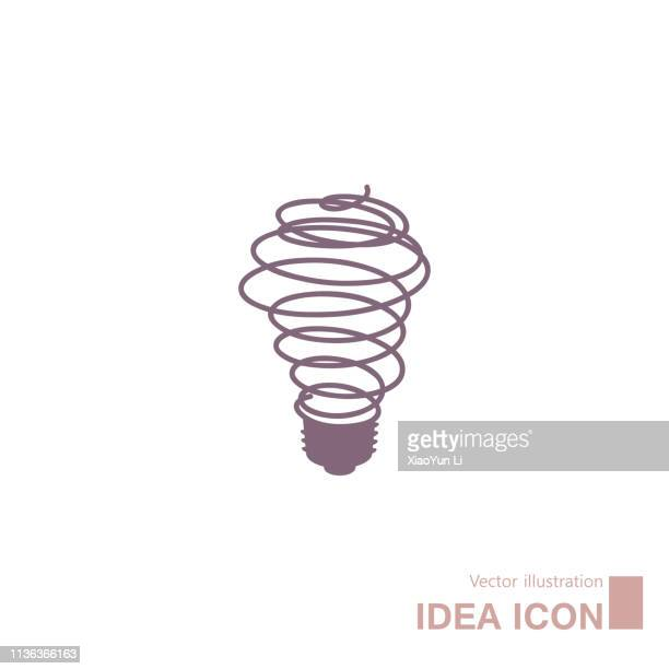 Light bulb concept icon design.