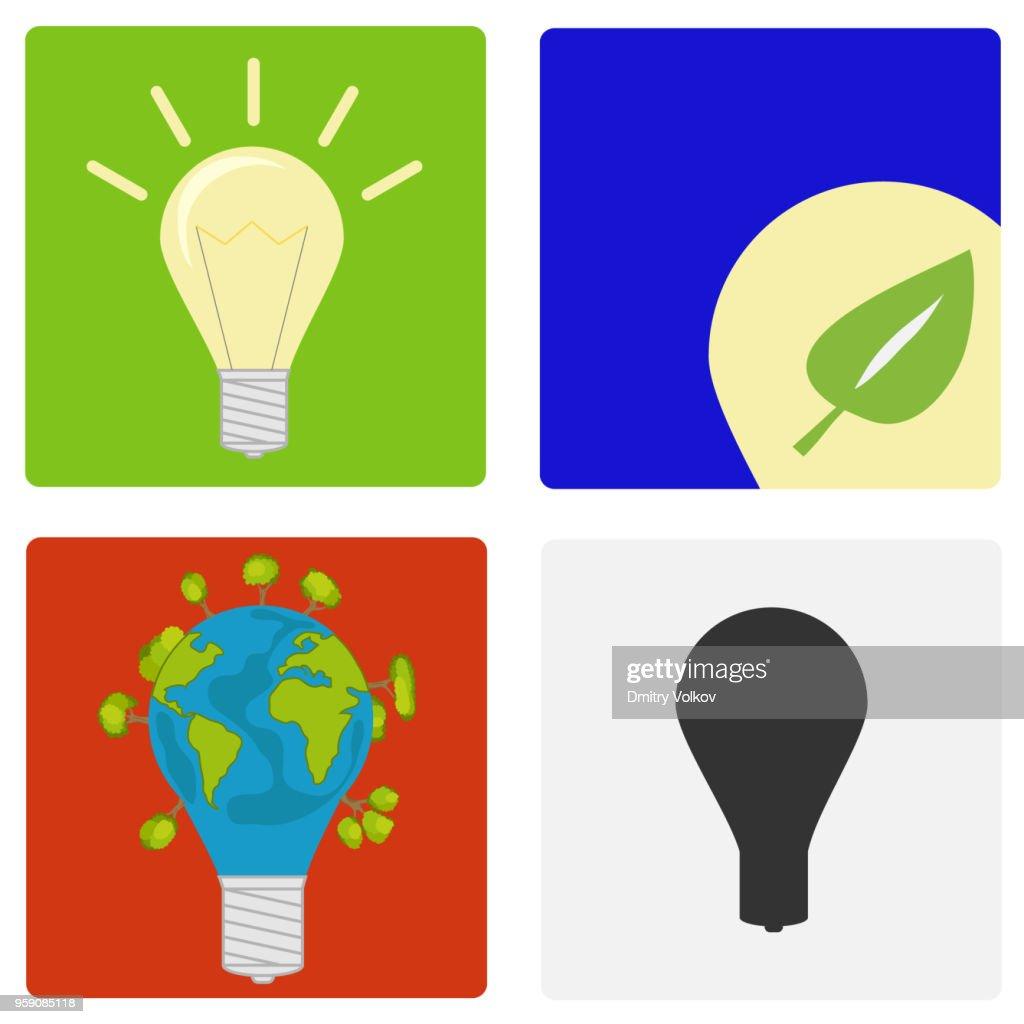Light bulb, eco-bulb, incandescent lamp.