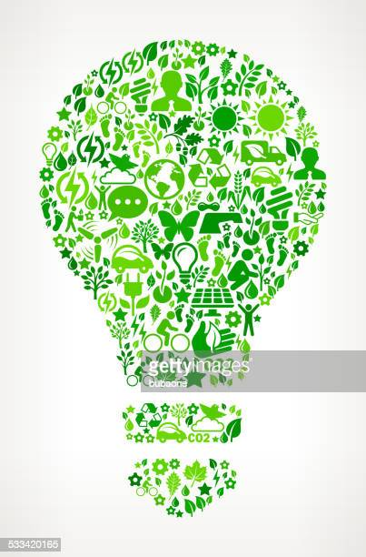Light Bulb Environmental Conservation and Nature interface icon Pattern