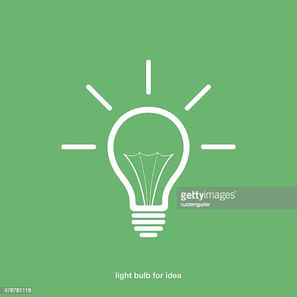 Light bulb for idea