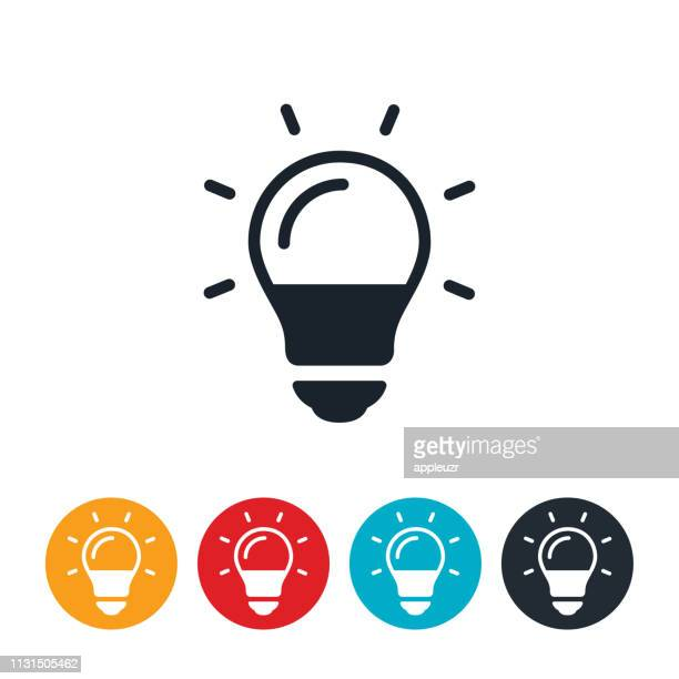 led light bulb icon - light bulb stock illustrations