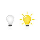 light bulb icon vector light bulb