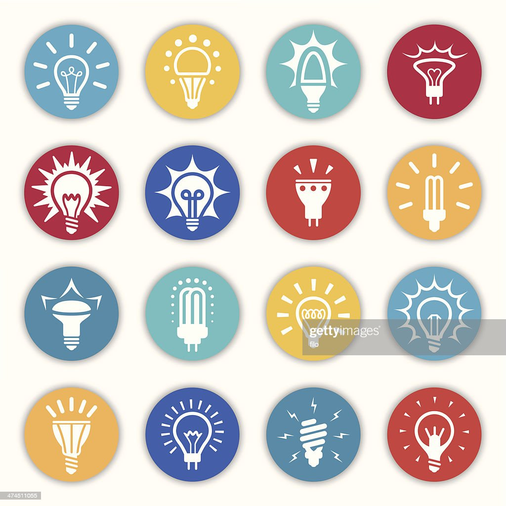 Light Bulb Icons and Symbols