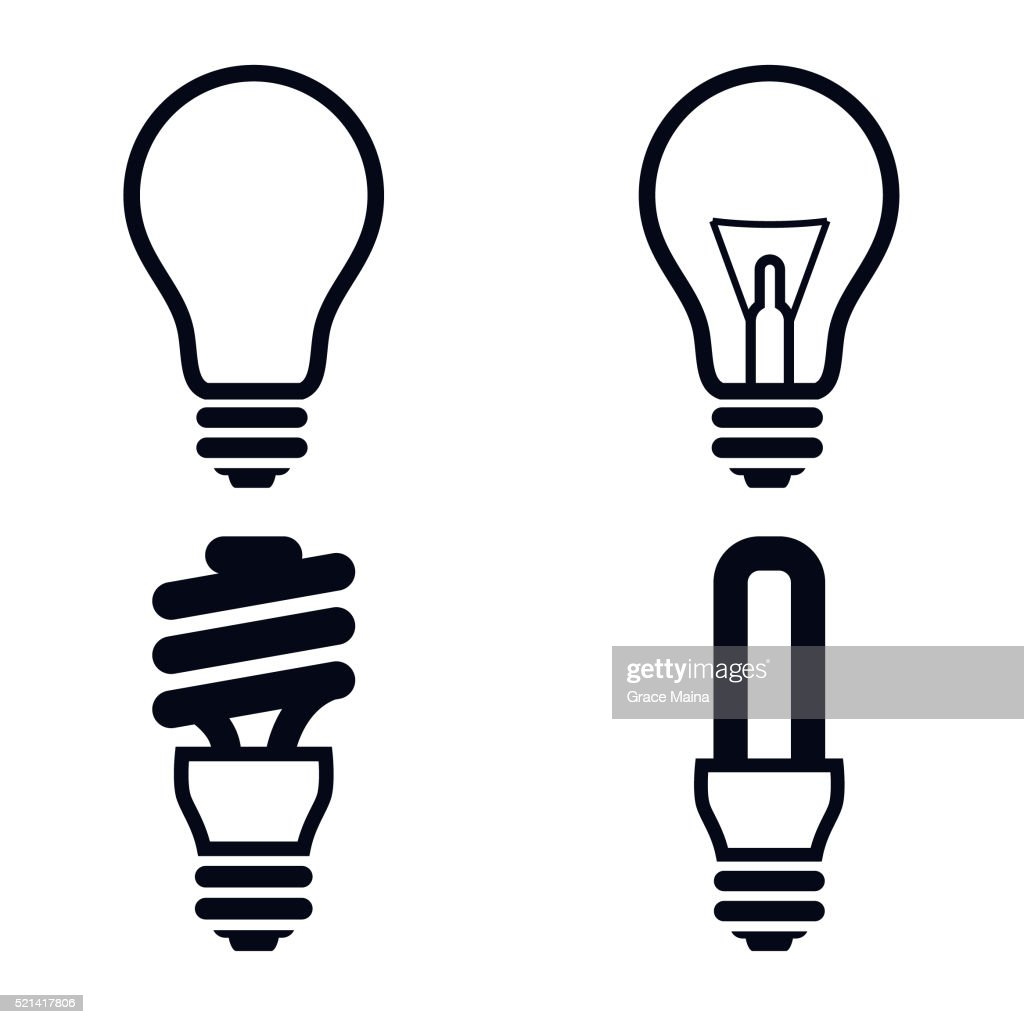 Light Bulb Icons Illustration - VECTOR