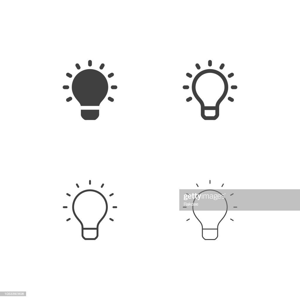 Glühbirne Icons - Multi Serie : Stock-Illustration