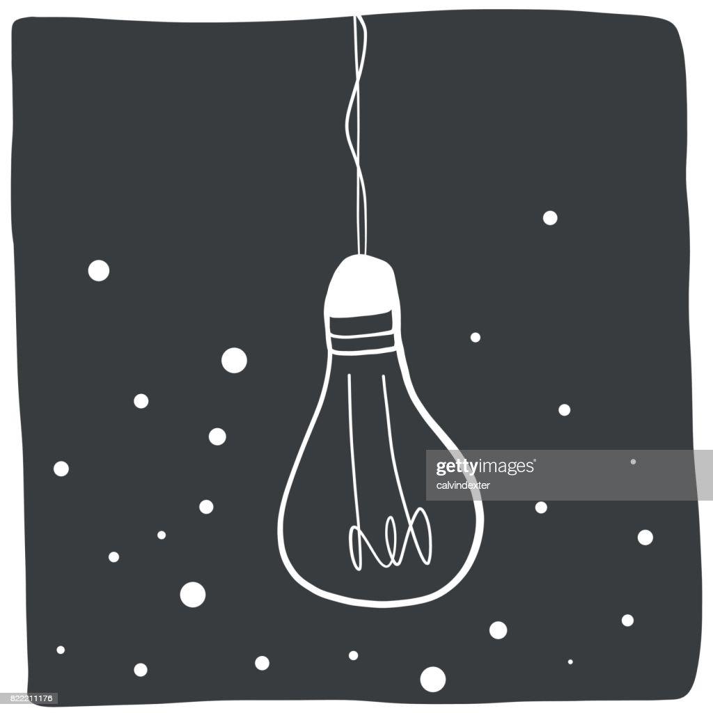 Light bulb illustration : stock illustration