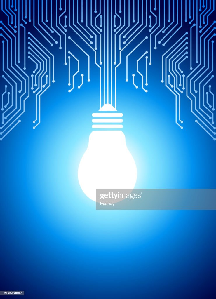 Light bulb in circuit backround