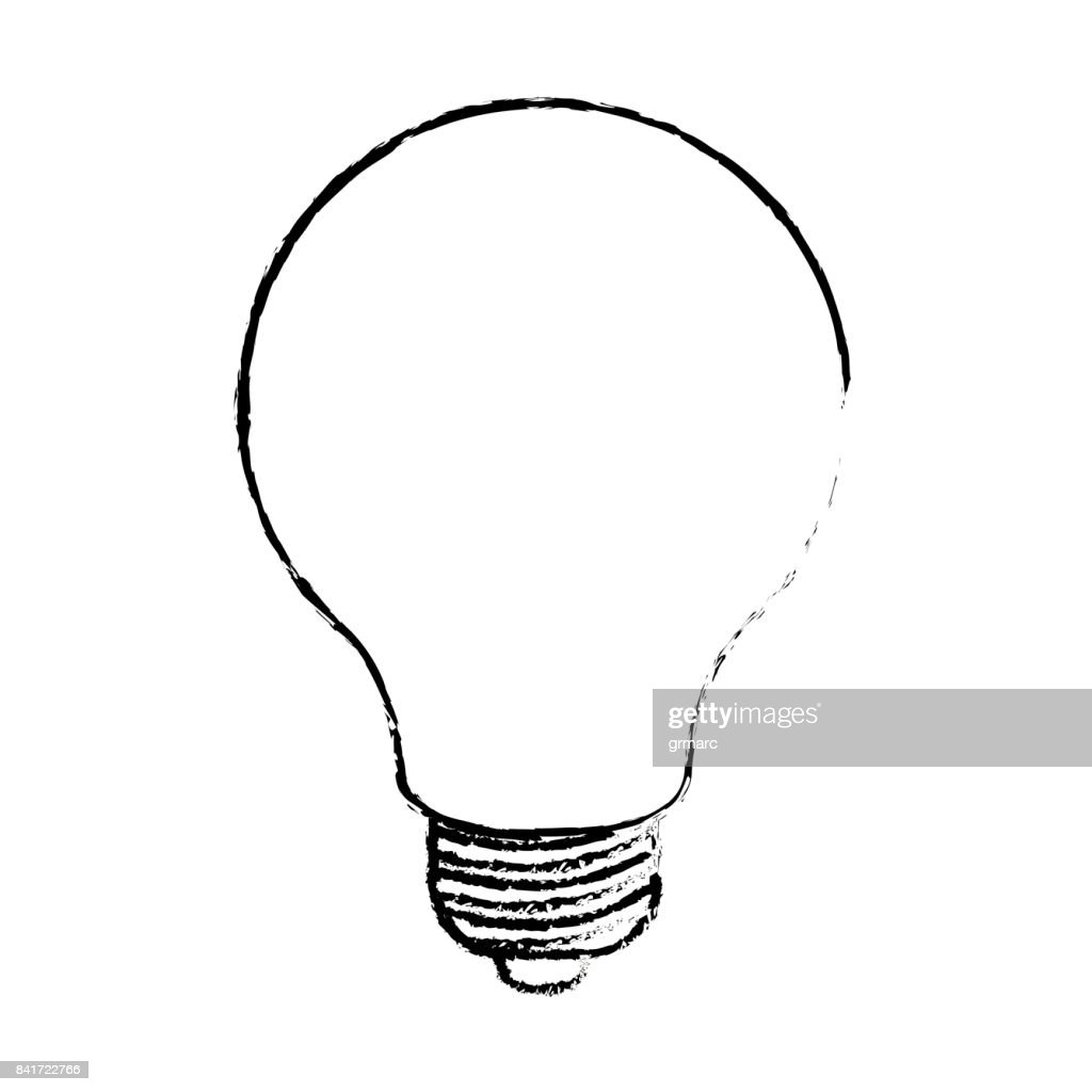 light bulb monochrome blurred silhouette
