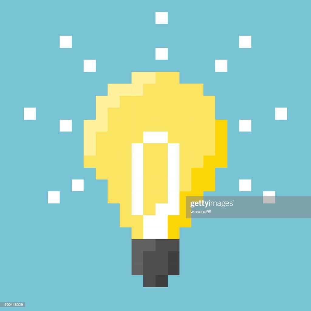 Light Bulb Pixel Concept