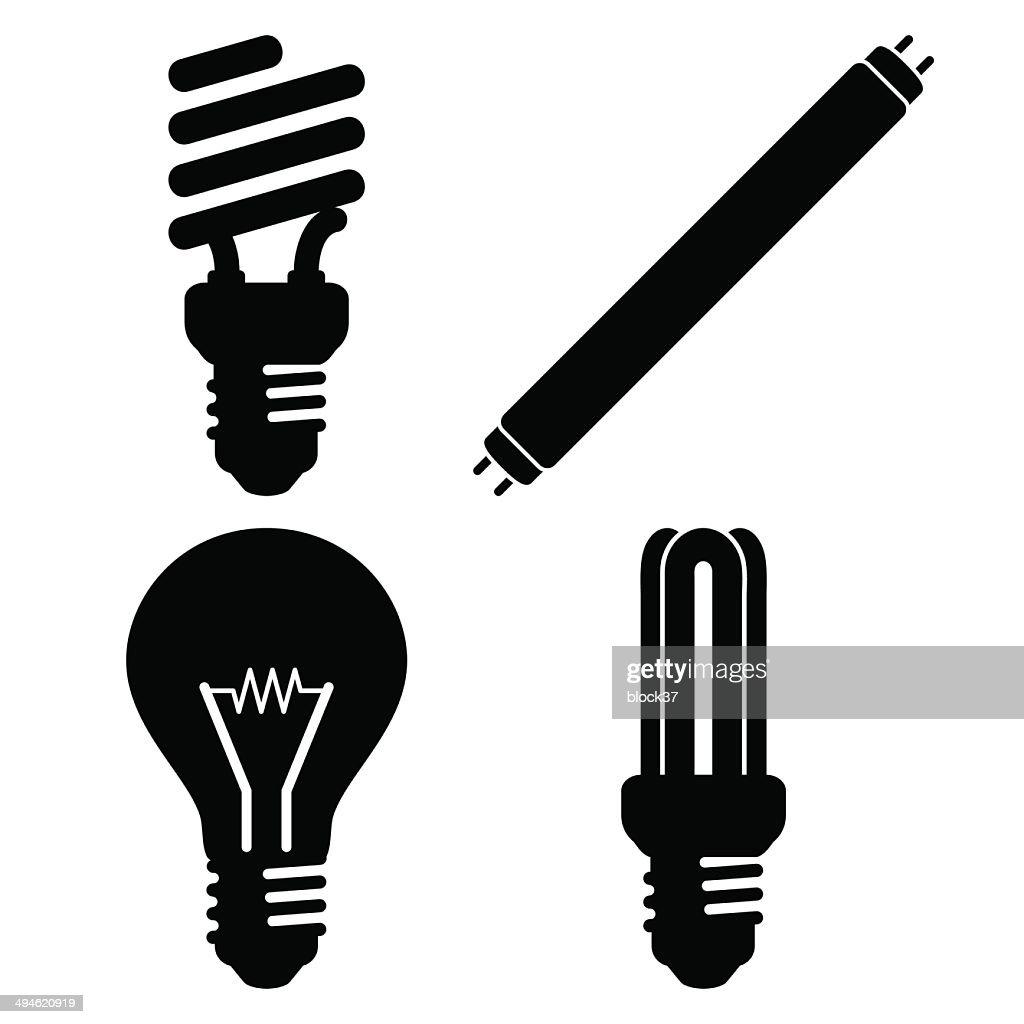 Light bulb silhouette