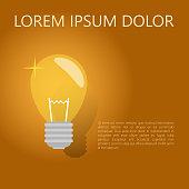 A light bulb. The concept of a business idea, a creative idea. Vector illustration.
