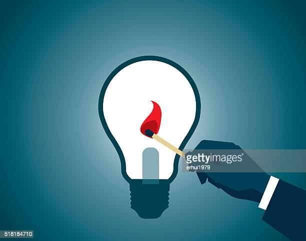 light bulb - igniting stock illustrations, clip art, cartoons, & icons