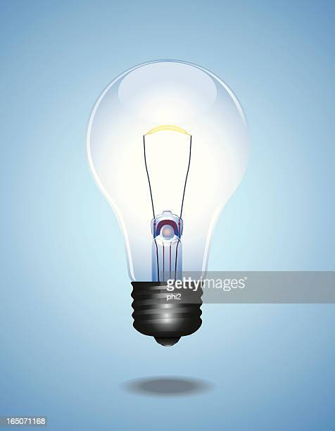 Light Bulb with Blue Background Vector