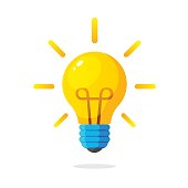 Light bulb with rays shine