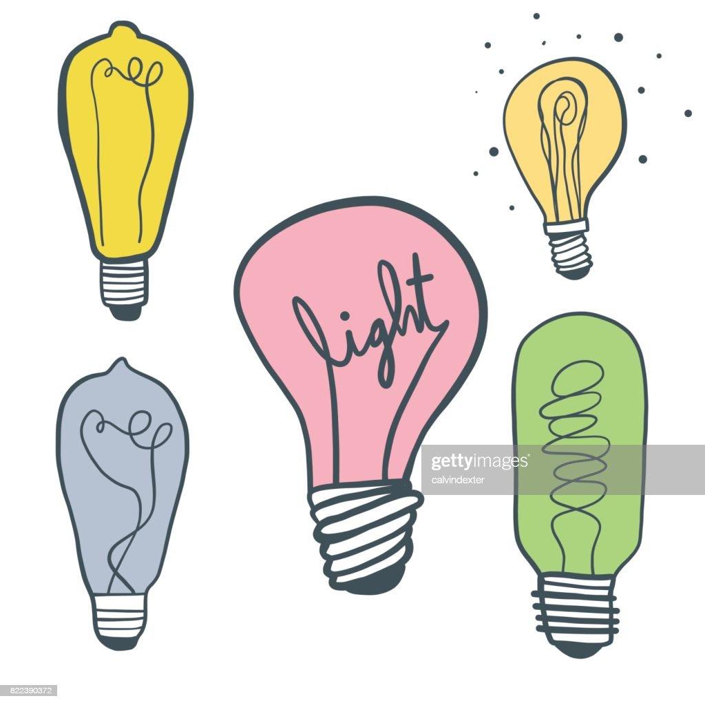 Light bulbs illustration : stock illustration