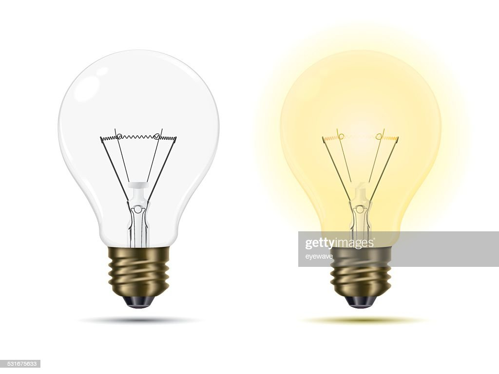 Light Bulbs switched on and off