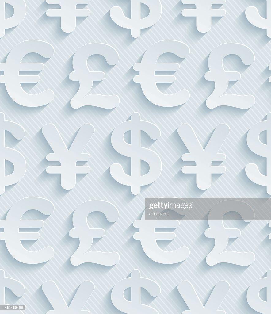 Light gray currency symbols wallpaper.