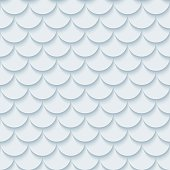 Light gray fish scale seamless background.