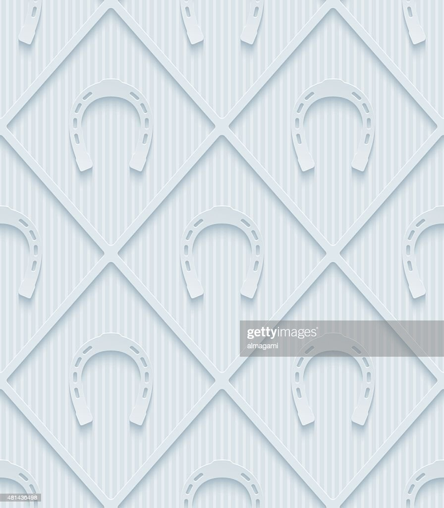 Light gray horseshoes wallpaper.