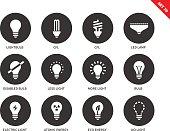 Light icons on white background