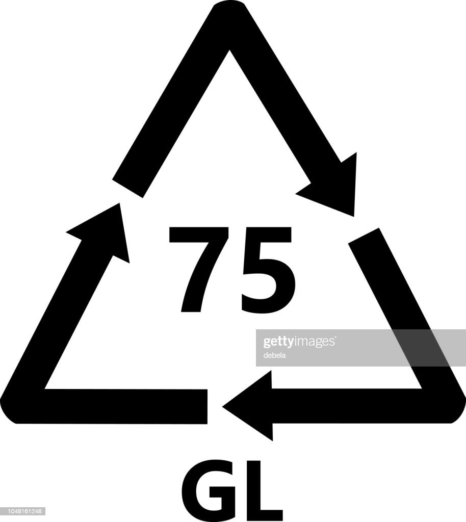 Light Leaded Glass Recycling Sign : stock illustration