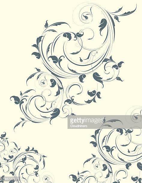 light leafy scrollwork - paisley pattern stock illustrations, clip art, cartoons, & icons