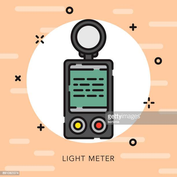 light meter open outline photography icon - light meter stock illustrations, clip art, cartoons, & icons