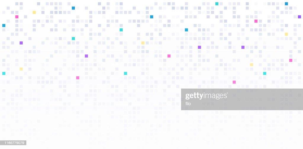 Light Modern Block Square Digital Data Background : Illustrazione stock