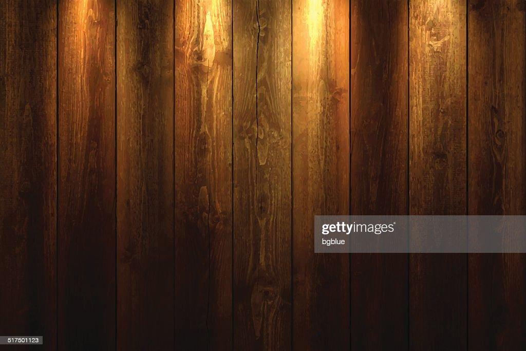Light on wooden Background : stock illustration