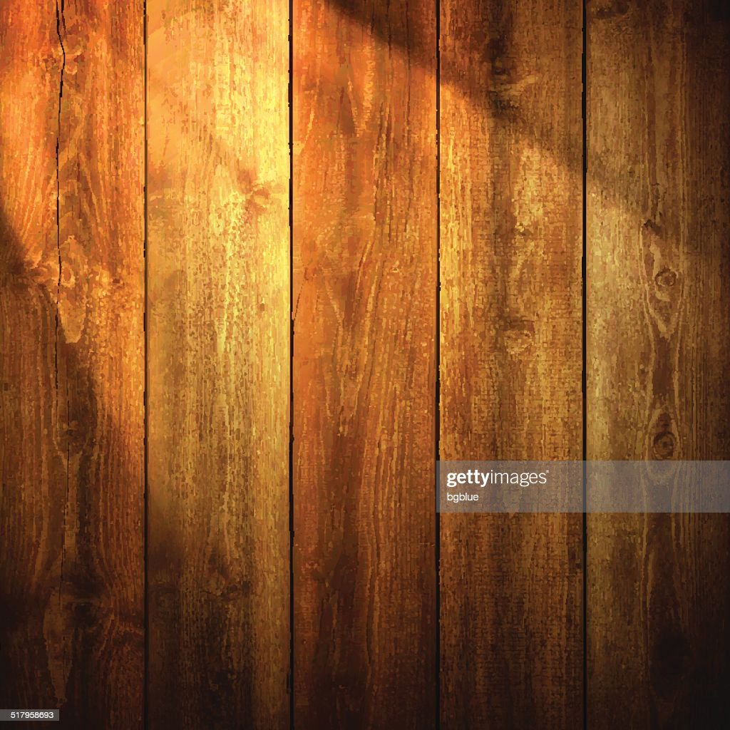 Light on wooden Background