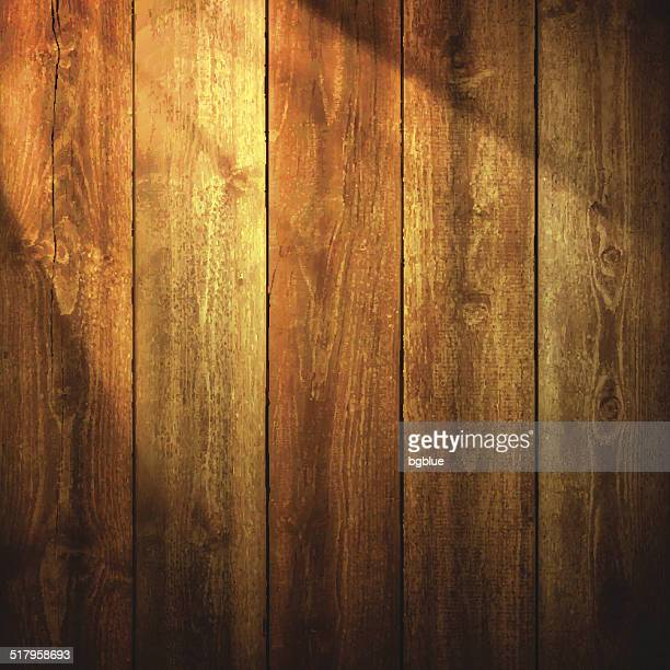 light on wooden background - wood material stock illustrations, clip art, cartoons, & icons