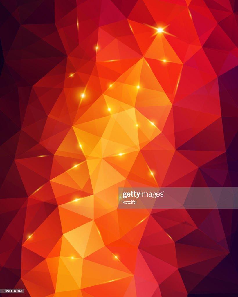 Light orange abstract polygonal background