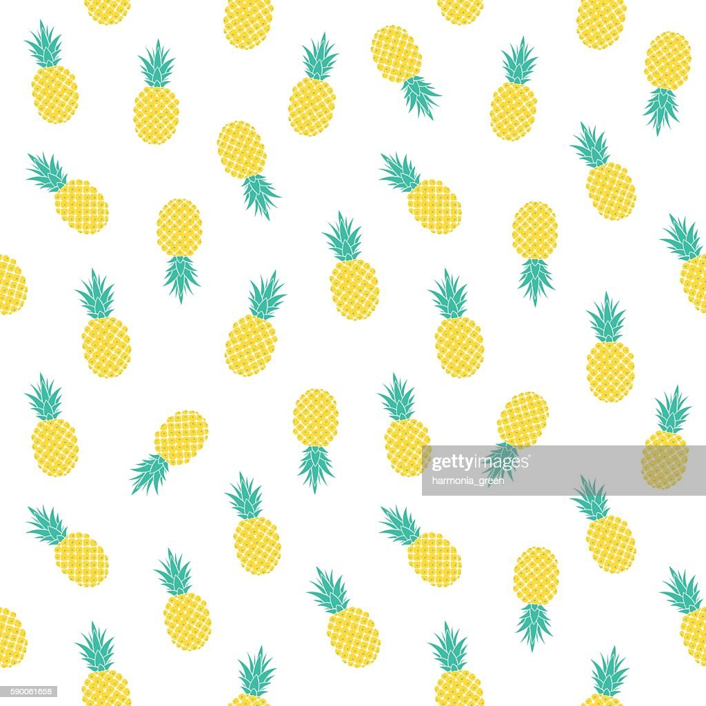 light pattern with pineapples