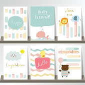 Light pink blue collection for banners, Flyers, Placards with li