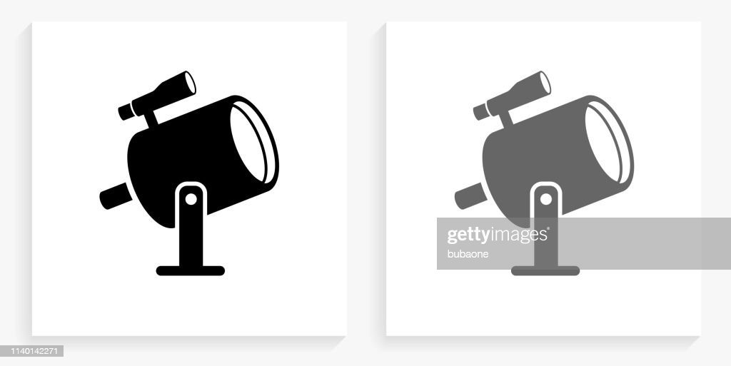 Light Projector and Finder Scope Black and White Square Icon