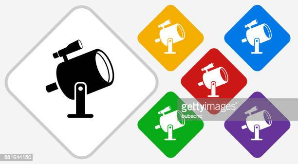 Light Projector and Finder Scope Color Diamond Vector Icon