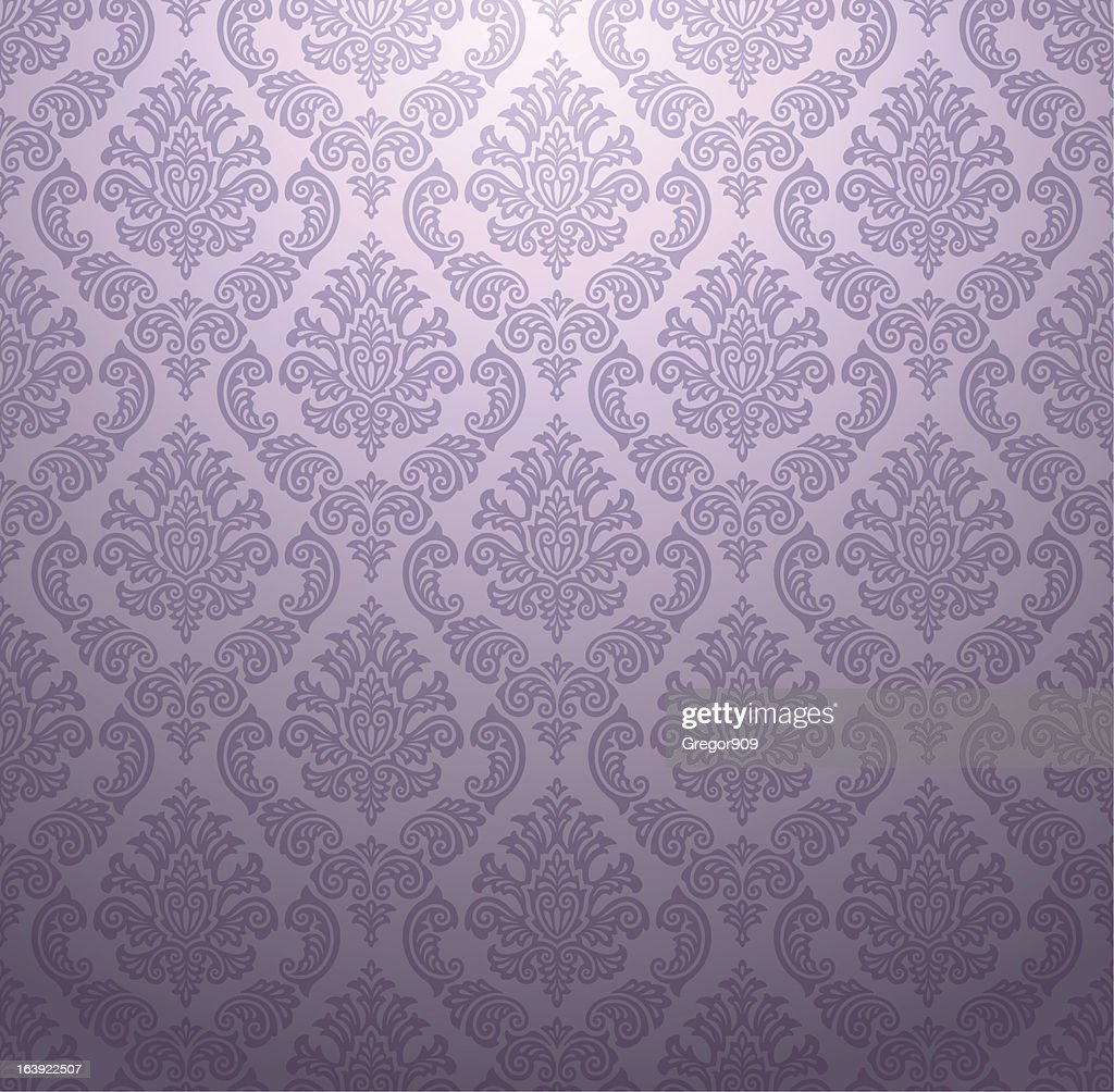 Light purple raised texture damask wallpaper pattern