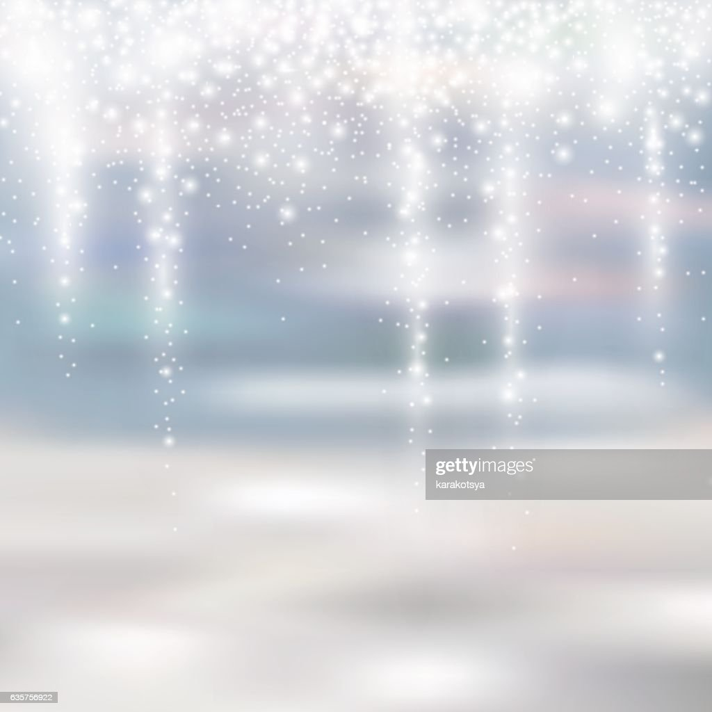 light silver and white christmas background with icicle snowfall