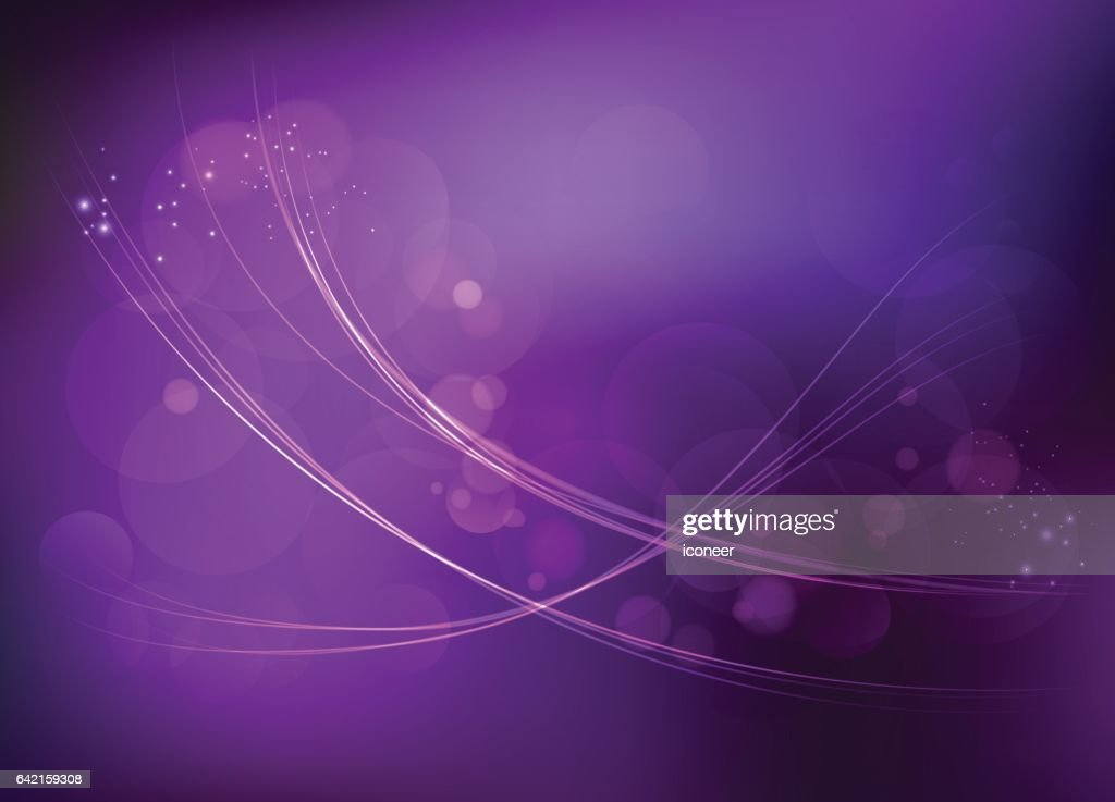 Light wave curves on dark purple space background