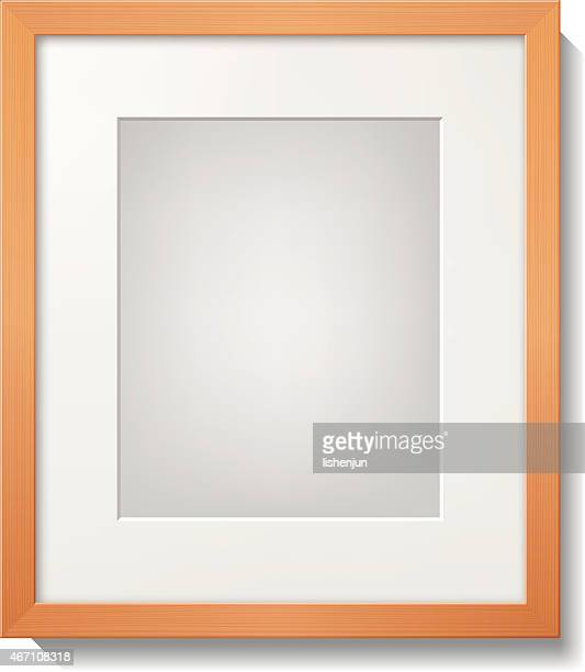 A light wood frame with a white mat