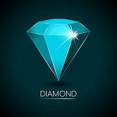 Light-Blue Colored Sparkling Diamond