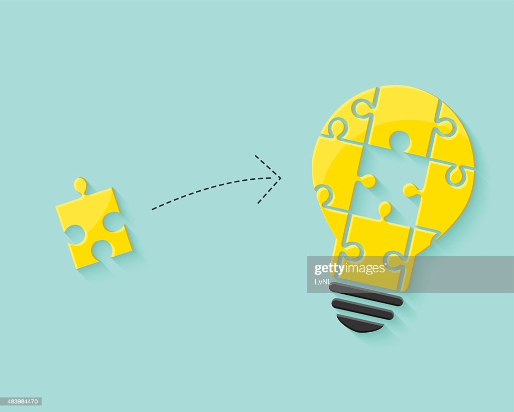 Lightbulb as idea and problem solving concept
