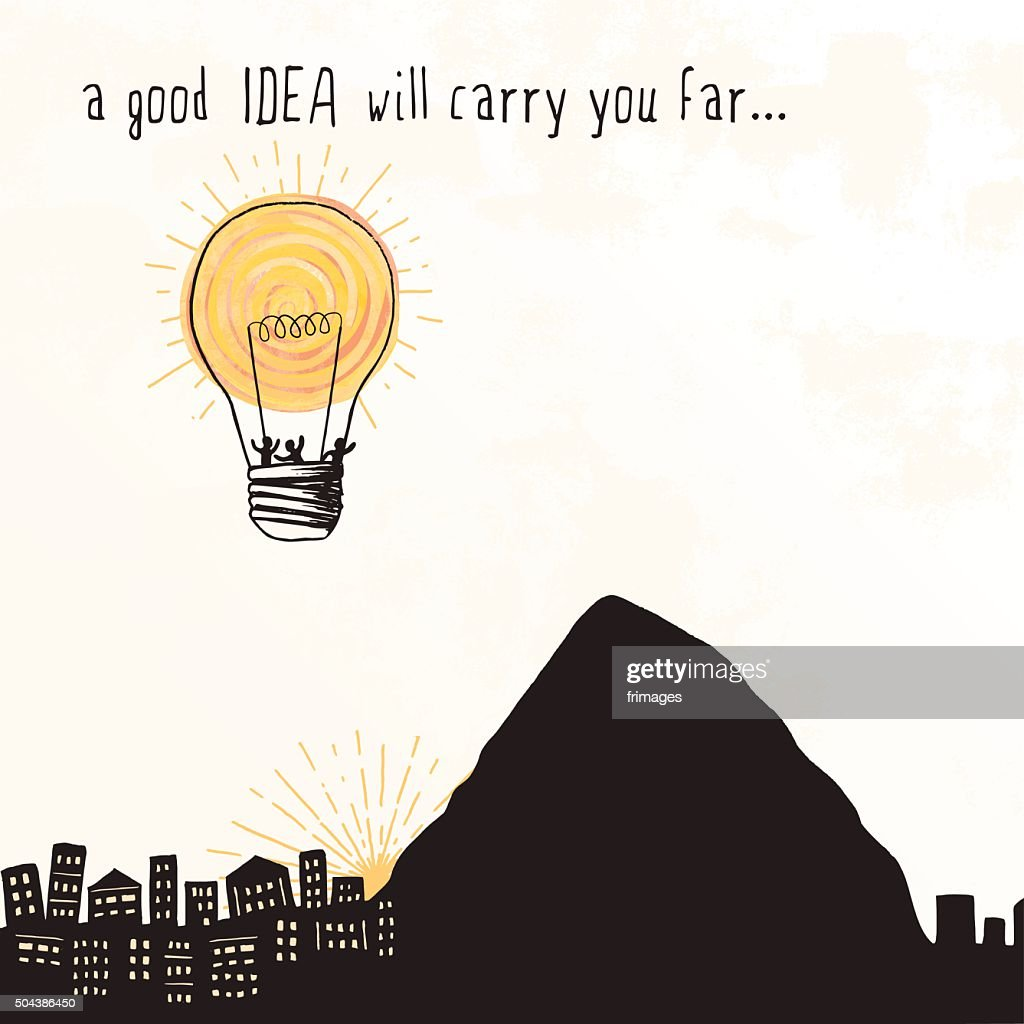 Lightbulb Balloon - 'A good idea will carry you far...'